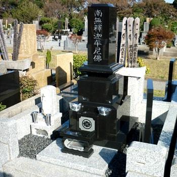 クンナム和型墓石の建立例