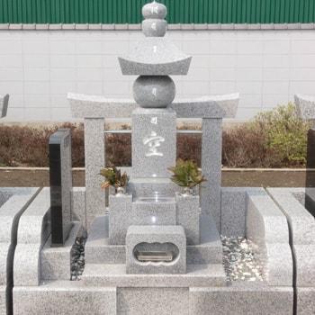 G623白御影石五輪塔の建立例