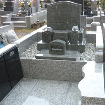アーバングレー洋型墓石の建立例