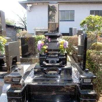 Y1洋型墓石の建立例